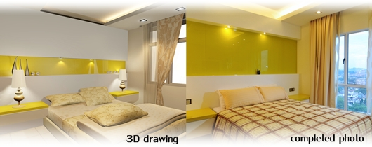 3d Drawing Vs Competed Photo 2